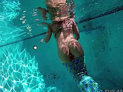 mermaid enjoying her underwater playtime @ anal acrobats #09