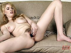 Blonde exotic Allie James has dildo-hungry bush