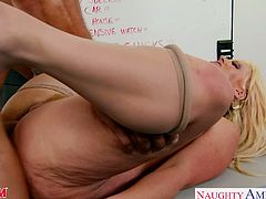 Beautiful big titted blonde mom Alura Jenson suck and fuck a big shaft