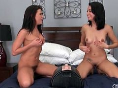 Adriana Chechik joyfully rides the Sybian