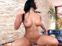 Kyra Black is hungry for sex and gets used by horny dude