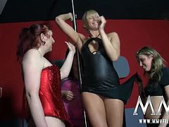 Beware these horny German babes! Beware this Lesbian party where a cheerful orgy suddenly breaks out!!