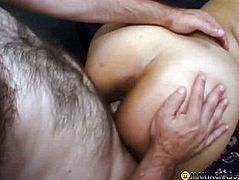 Preggy honey fucking with 2 males