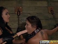Attractive bitches can be cruel and merciless. A helpless naked slut is prisoner of two fierce lesbians, who play dirty with her pussy. Chains and sex toys are part of the game. Dare to click and enjoy the exciting scenes, where Mena Li, Brooklyn and sexy Ava get loose.