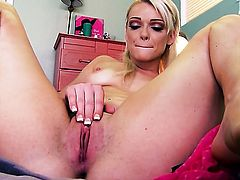 Zoey Paige groans as she plays with herself