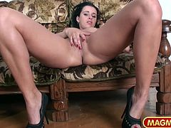 Two young and horny girls finger bang each other in fron ot an old guy that´s jerking off in front of them.