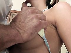 Toni Ribas is horny as hell and cant wait any more to fuck incredibly hot Kortney Kanes mouth
