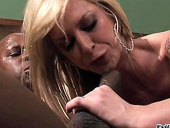 Cute gal Brooke Banner gagging on rock solid boner of Prince Yahshua