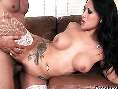 Gianna Lynn satisfies dudes sexual needs and then gets covered in love juice