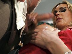 Lee Strong plays hide the salamy with Tanya Tate with massive melons