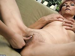 Redhead Nilla makes Irenes sexual fantasies cum true