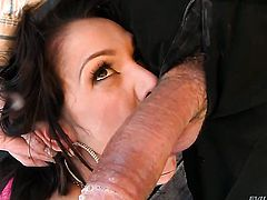 Samia Duarte loves the way Steve Holmes bangs her mouth after she gets fucked in her bum hole