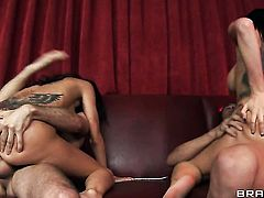 Gia Dimarco with massive jugs gets her beaver banged mercilessly by Xander Corvus