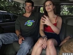 Aurora Monroe with juicy bottom is out of control with mans hard throbbing worm between her hands