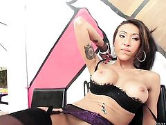 Asian Jayden Lee gets impaled on guys tool