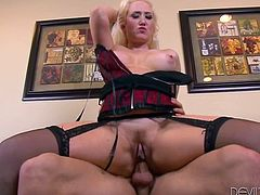 Imagine how upset is Abby, when she finds out that her partner cheats on her and bangs her mother. But for the blonde busty milf and the horny guy, the pleasure is so intense, that they shamelessly continue the thrilling adventure. Watch Alana fucked hard from behind or in the reverse cowgirl position. Enjoy!