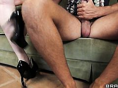 Tessa Lane fulfills her sexual needs and desires with Keiran Lees rock hard boner in her honeypot
