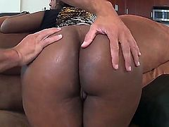 Layla Monroe is an ebony beauty, her soft black skin will turn any white boy on in no time. This white dude is so lucky to get to pound her big fat ass.