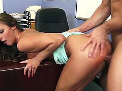 Amirah is a student who goes to her counselors office for advice. One thing leads to another and they end up on the floor fucking hard.
