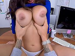 Its time for this busty Latina with huge milky tits to get banged the shit out. Her name is Julianna Vega and she is going to please her man no matter what.