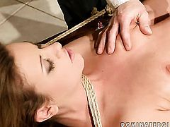Redhead is a blowjob addict who loves guys stiff man meat