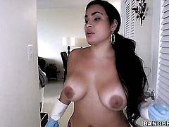 Huge ass Cuban maid gets fucked