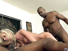 Cute cutie getting humped hard and deep by mans rock solid rod in steamy interracial action