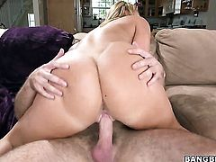 AJ Applegate with juicy booty gets covered in man semen on camera for your viewing entertainment