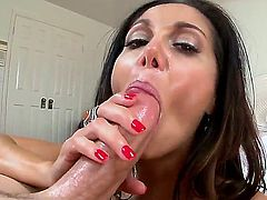 Ava Addams is a hot bodied MILF with bubbly ass and perfect huge jugs! She  takes thick cock in her hot mouth and then gets her wet pink fuck hole stuffed. Then she gives titjob man wont soon forget.