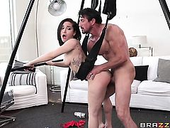 Gabriella Paltrova fucks like a sex crazed animal in anal sex action with Tommy Gunn