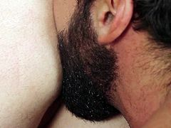 Nothing can stay on the way of these horny gay guy's passion! Watch the naked boys playing dirty. The muscled man, wearing a sexy beard, offers a hot rim job, preceded by an inciting blowjob. Click to see him stuffing his big penis in Tobias's appetizing ass hole. Enjoy and relax.