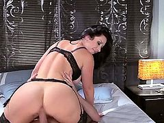 Johnny Sins loves to pound a milf with big tits and when he gets someone like Jayden Jaymes its an all out pussy fucking, titty banging and cock sucking scene.