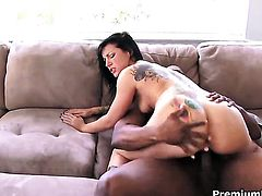 Tori Lux her best to make fuck buddy bust a nut in interracial porn action