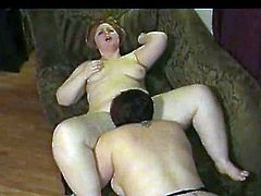 2 horny Fat Chubby Lesbians having fun and sucking wet pussy