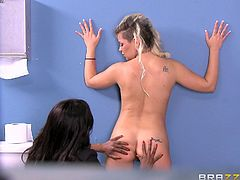 A naive teen finds herself behind bars. Boredom goes away once a horny brunette bitch comes in the cell, with the clear intention of satisfying her lusty fantasies. Click to watch blonde Alex, seduced by this hot busty lesbian. See the milf getting loose, when her naughty cunt gets fingered.