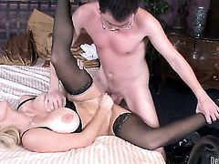Dane Cross is horny and cant wait no more to fuck breathtakingly hot Charlee Chases mouth