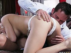 Johnny Castle gets pleasure from fucking Charity Bangs