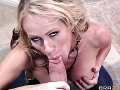 Xander Corvus attacks glamorous Simone SonayS mouth with his love torpedo