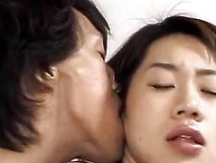 Yuki has cunt licked and filled with hard penis