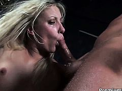 Angel Long is on the edge of nirvana with sticky nectar in her mouth