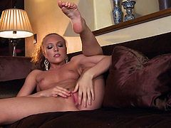 Skinny adult model Aubrey Star with small boobs and firm ass gives a close up view of her clean shaved pink pussy as she masturbates in her bare skin in solo action. Watch Aubrey Star play with herself!