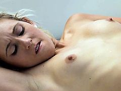 Perky blonde amateur Lilly Banks cant wait to feel her stud's large cock ripping her moist pussy from behind