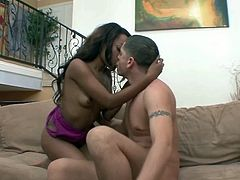 Ebony sluttie Karmin takes some white dick living nextdoor