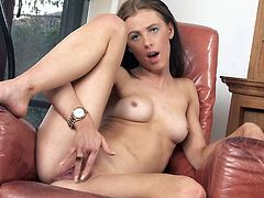 Petite Lucy Hart and her small natural boobs will show you ladies how to masturbate in this masturbation instruction video. And guys, get them peckers out for a lovely treat