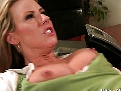 Carolyn Reese with gigantic knockers gets dicked silly by sex crazed Danny Mountain