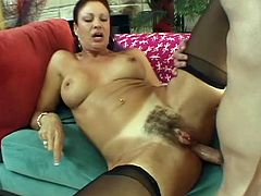 Lustful owner of hairy cunt Vanessa Videl gets analfucked really hard