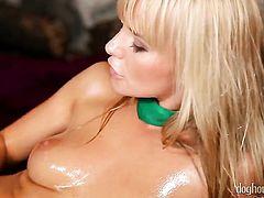 Kathy Anderson screams in lesbian sexual ecstasy with Lucy Bell