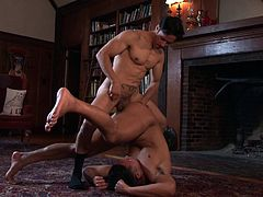 Sexy Seth's muscled body overexcites his horny partner. They are both very flexible and seem fond of trying different kinky sex position. Click to watch the lusty gay men, taking advantage of every second to enjoy their time together and get their ass holes drilled with passion.