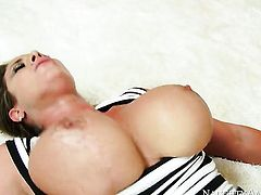 Joey Brass whips out his man meat to fuck Asian Eva Notty with bubbly butt and shaved muff