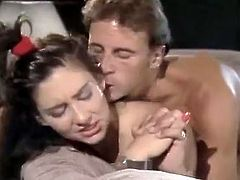 Brunette seductress Lisa from the past gets her pussy fucked